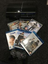 PS3 with games and dvds