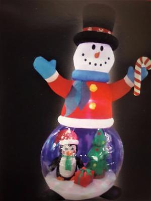 """94"""" INFLATABLE SNOWMAN GLOBE LED OUTDOOR CHRISTMAS DECORATION W. LIGHT EFFECTS"""