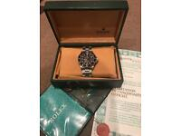Immaculate steel Rolex submariner box and papers