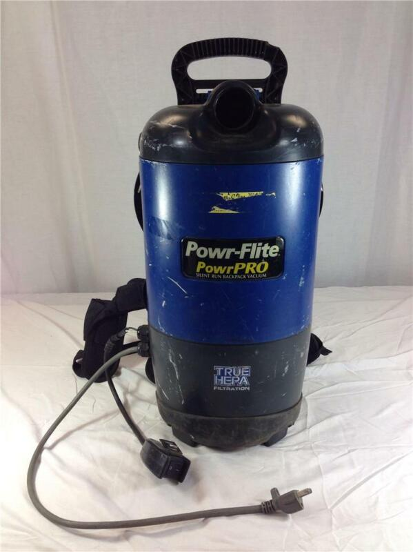Powr-Flite Powr-Pro Silent Run Backpack Vacuum 6 Qt True Hepa Filtration PF600BP