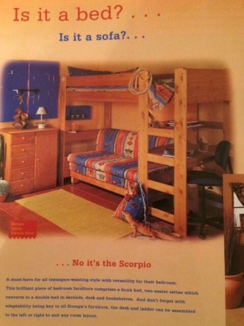 Fantastic Stompa Scorpio High Sleeper Desk Double Sofa Bed In Hythe Hampshire Gumtree Bralicious Painted Fabric Chair Ideas Braliciousco