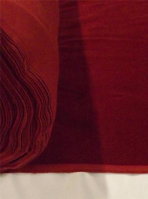 Burgundy Cotton Velvet Velour Fabric Upholstery Drapery Sold Per Yard 54 in Wide