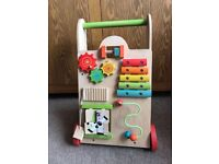 Wooden Toy Activity Baby/ Toddler Walker - EverEarth