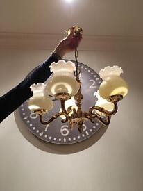 5 shade chandelier