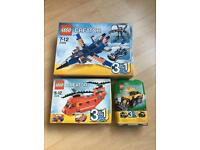 Lego creator sets 3 all brand new and sealed