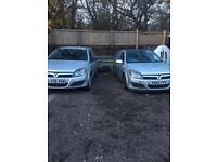 Vauxhall Astra van sportives x2 Motd . Spares or repair