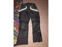 Texspeed motorcycle armoured jacket and trousers
