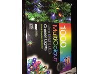 1000 Christmas indoor/outdoor lights