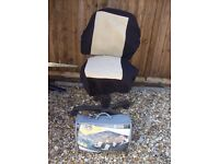 Set of car seat covers hardly used, as in classic car which only went out on fine days in the summer
