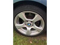 4 x BMW 17 inch alloy wheels with Bridgestone tyres