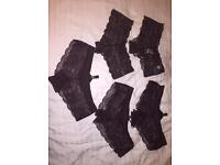 5 pairs of lace pants - size 8/10 - brand new with tags
