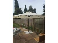 Parasol with stand and cover