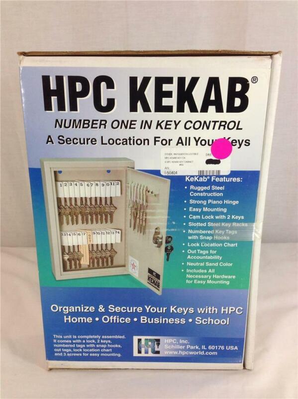 NEW HPC Kekab 30 Key Capacity Cabinet Storage Box