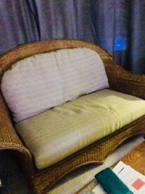 Wicker 2 seater sofa