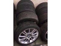 "Bmw Mv3 18"" Alloy Wheels Staggered Fitment Run Flat Tyres Can Sell Single Can Post Part Ex Welcome"