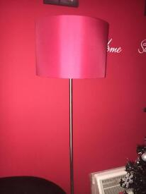 Red standing lamp