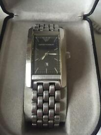 Emporio Armani watch stainless steel new battery & a battery for life