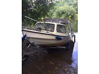 14 ft cabin boat fishing boat