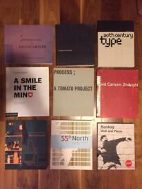 9 Graphic Design/Typography type books