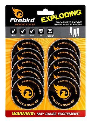 Firebird Reactive Exploding Targets Clay Pigeon Shooting Star Self Adhesive 65mm