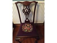 Edwardian Chair with tapestry upholstered seat