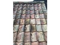 Hand made clay roofing pan-tiles