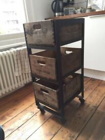 Industrial antique drawers