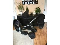 Quinny Buzz Xtra, Foldable Carrycot, Maxi-Cosi Pebble and FamilyFix Base