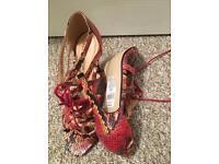 Dorothy Perkins snakeskin style heels size 6