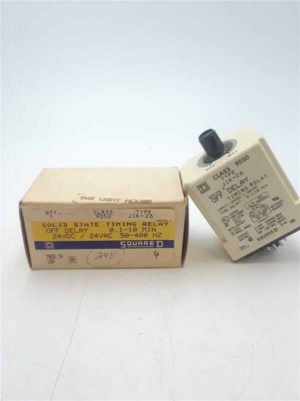 Square D 9050JCK26 Ser. A Solid State Timing Relay Off-Delay 0.1-10min. 120V