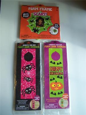 Halloween Foam Kits Photo Frame, Spider or Pumpkin Door Hanger ~U PICK~ (Foam Frames Halloween)