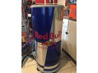 Large red bull fridge