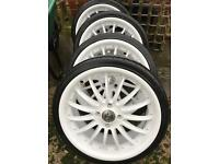 "RS 18"" alloy wheels and tyres"