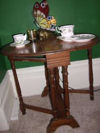 gorgeous old gate leg side table SORRY NOW SOLD