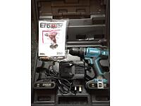 New Erbauer drill ER1603COM new charger + 2x new batteries