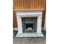Gas fire and marble (surround is now sold)