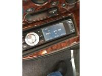 Car CD Player with remote, face-off DVD & Bluetooth.