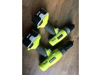 Ryobi drills 14.4v used x2 in used condition