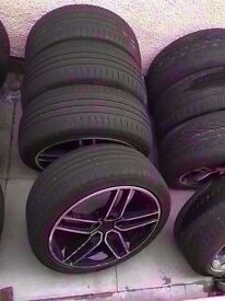 """Bmw ac schnitzer diamond cut 18"""" Alloy Wheels 5*120 Can Sell Single Can Post Part Ex Welcome"""