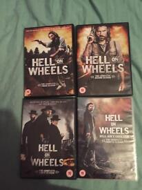 Hell on wheels 1-4 dvd