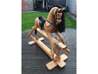 Coach-house wooden rocking horse