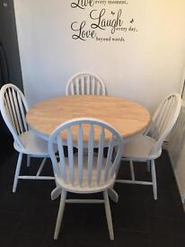 Dining table and chairs - solid wood