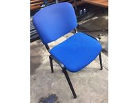 BLUE Chairs....4 LEFT of this design £7 each!!! BARGAIN