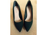 New Look Forest Green Heels Shoes Size 6 UK