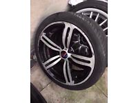 """Bmw single m6 18"""" silver alloy wheel CAN POST"""