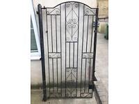 Wrought iron gate & post