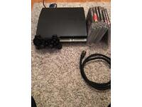 Playstation 3 (PS3) 160gb with games and cables.