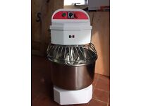 Dough Mixer - Commercial - Brand New -Italinox 21 ltr - 18kg Spiral Dough Mixer With Castors