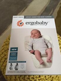 ERGOBABY EASY SNUG INFANT INSERT - £15 (Retails £20)
