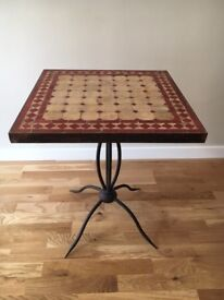 Handcrafted Moroccan mosaic side table